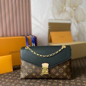 Louis Vuitton Black Monogram Pallas Chain Bag    S